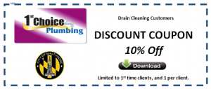 Drain Cleaning Plumbing Special Baltimore